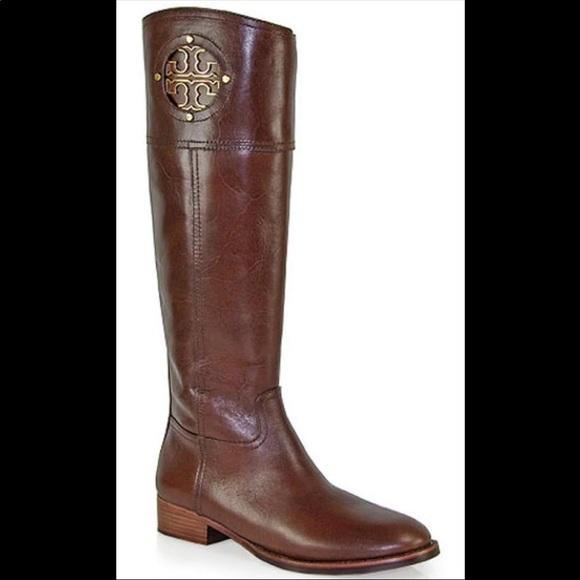 dc642cfdc48a Tory Burch Kiernan Leather Riding Boots 5.5. M 5bce510bc6177744424e498c
